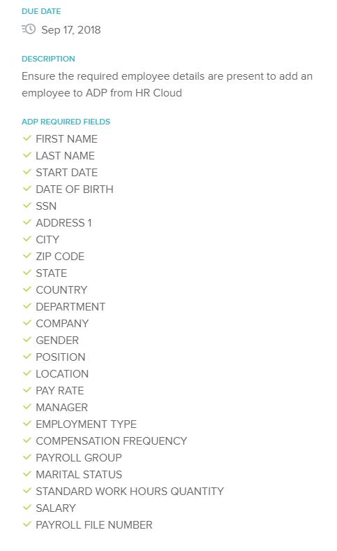 ADP Vantage Integration Details