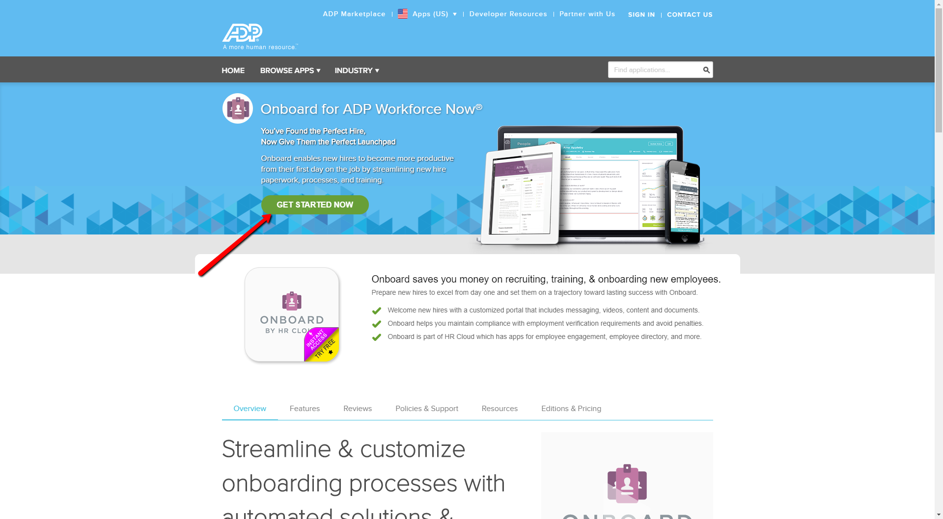 How to purchase HR Cloud for ADP?